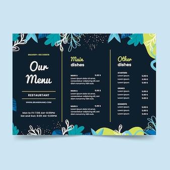 Notre modèle d'impression de menu de restaurant