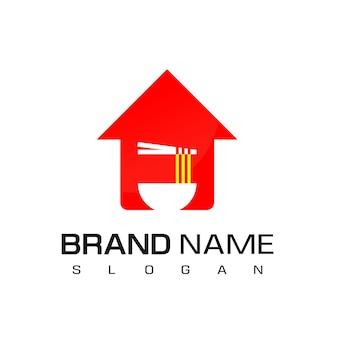 Nouilles logo symbole cuisine asiatique