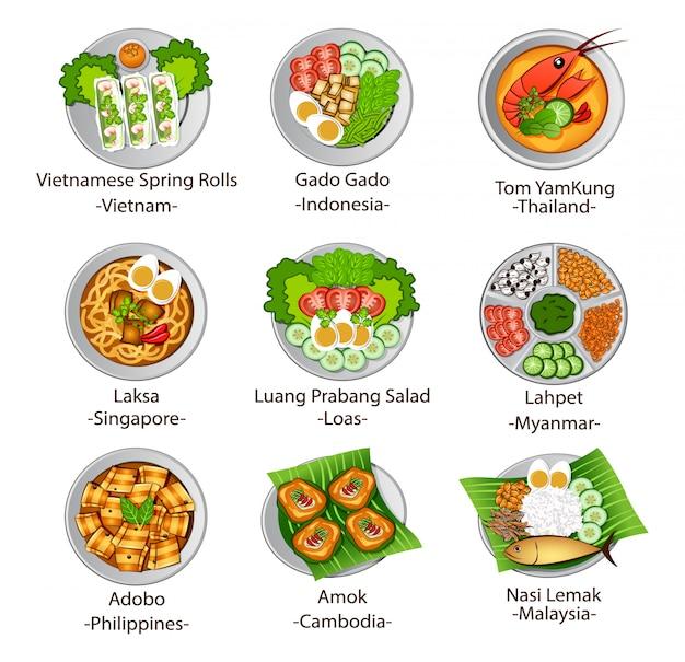 Nourriture de l'asean