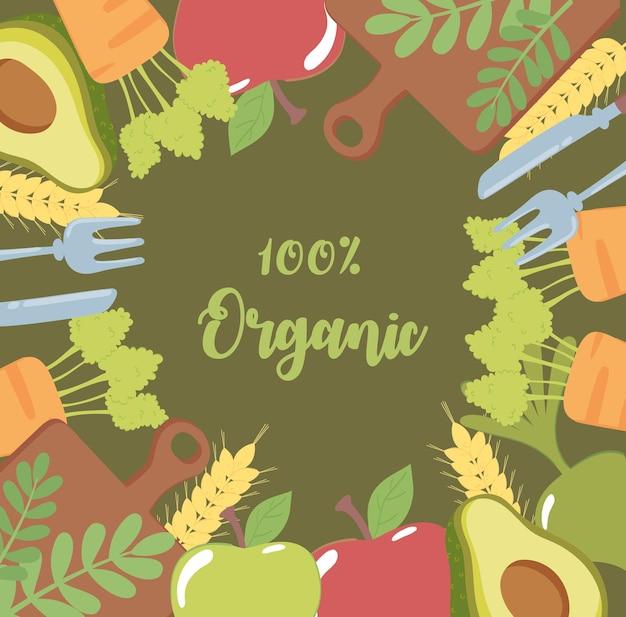 Nourriture biologique et fraîche