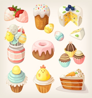 Nourriture colorée pour la fête de pâques. images