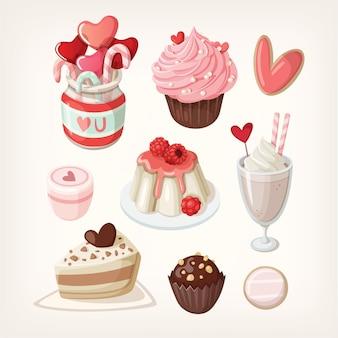 Nourriture colorée pour les occasions liées à l'amour.
