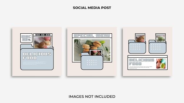 Nourriture de conception de publication instagram