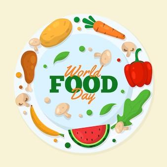 Nourriture délicieuse pour l'événement de la journée mondiale de l'alimentation