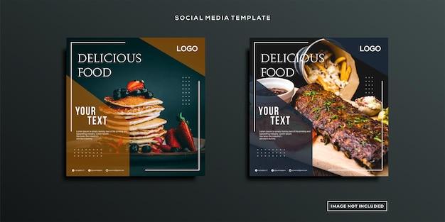 Nourriture délicieuse publication sur les réseaux sociaux
