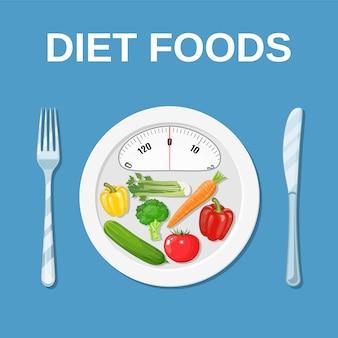 Nourriture diététique. suivre un régime et nutrition.