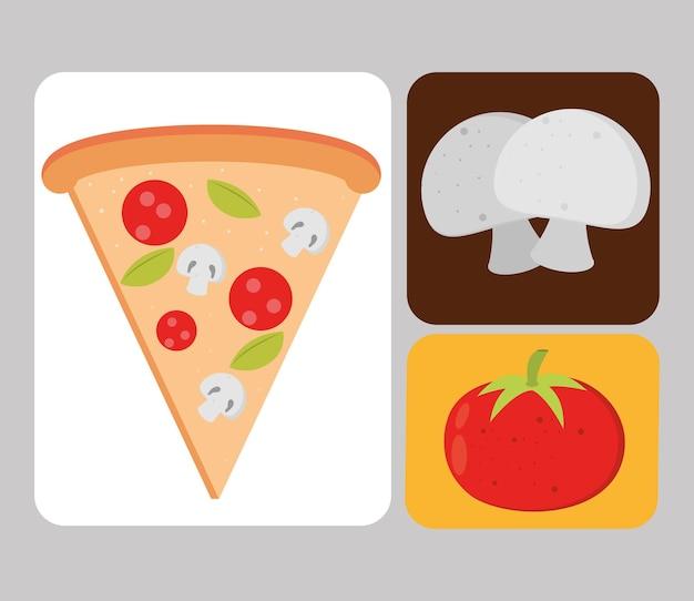Nourriture de jeu d'icônes