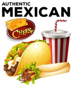 Nourriture Mexicaine Authentique Vecteur gratuit