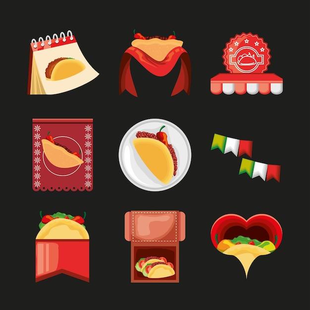 Nourriture mexicaine de taco