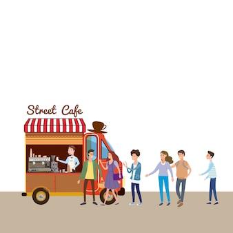 Nourriture mobile van