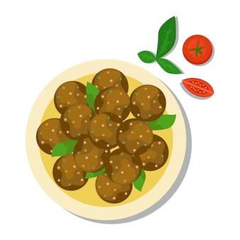 Nourriture nationale d'israël.