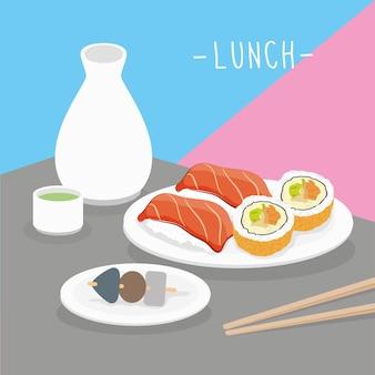 Nourriture repas déjeuner produits laitiers manger boisson menu restaurant vecteur