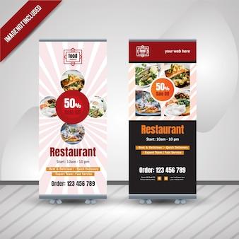 Nourriture roll up banner design pour le restaurant