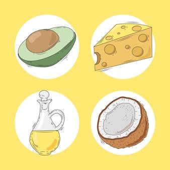 Nourriture saine et grasse
