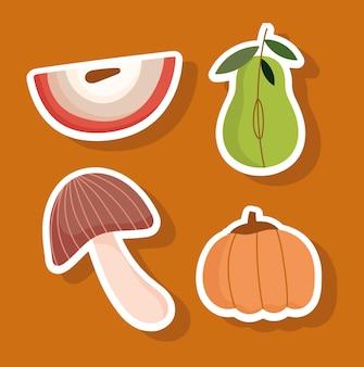 Nourriture de saison d'automne