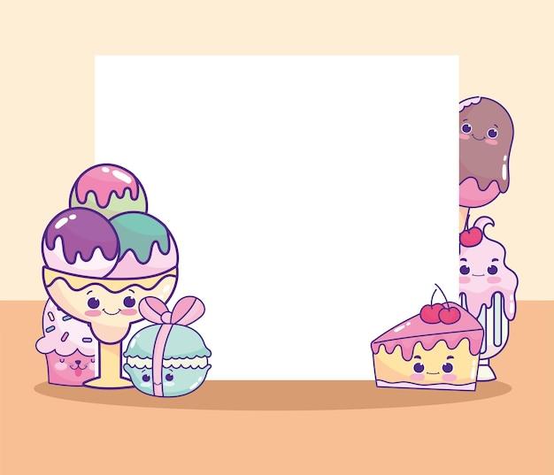 Nourriture sucrée mignonne