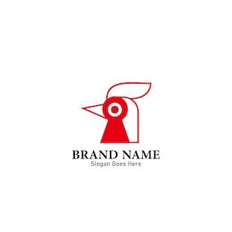 Nourriture de symbole d'illustration de modèle de conception de logo de coq
