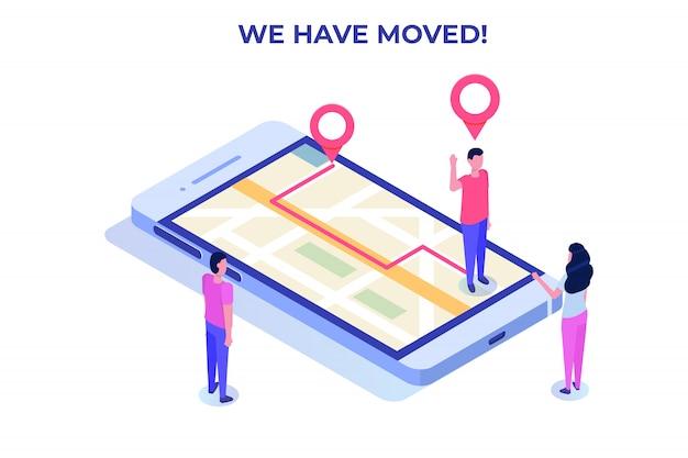 Nous avons déplacé le concept isométrique, changé la navigation d'adresse.