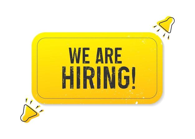 Nous embauchons une affiche d'offre d'emploi ou un concept de bannière