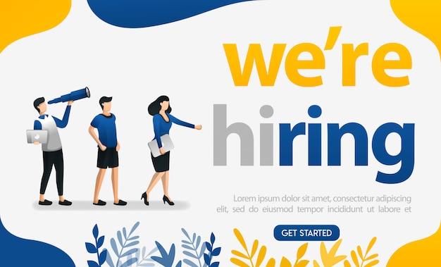 Nous embauchons des affiches pour les demandeurs d'emploi et les entreprises