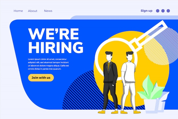 Nous embauchons un concept de design d'entreprise