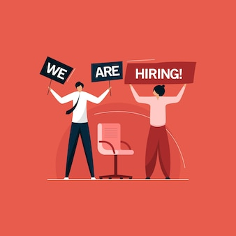 Nous embauchons, concept de recrutement de postes vacants