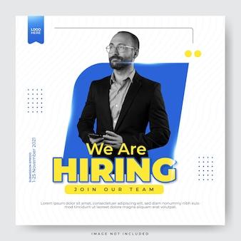 Nous embauchons un employé pour un poste vacant pour un modèle de publication sur les réseaux sociaux