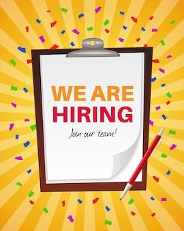 Nous embauchons illustration de sociétés de recrutement de postes vacants