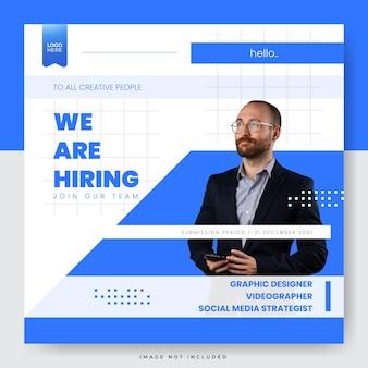 Nous embauchons un modèle de médias sociaux pour les postes vacants