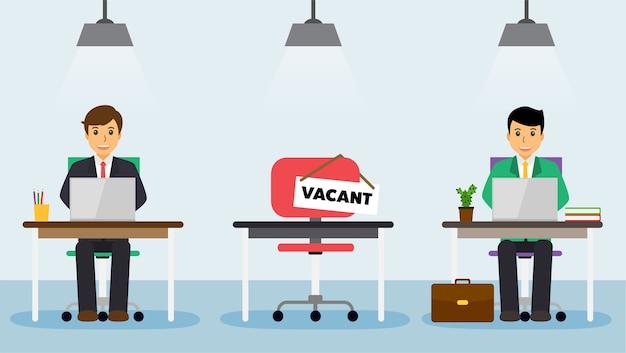 Nous embauchons signe à confort vacant chaise de travail