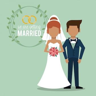 Nous nous marions avec un couple sans visage