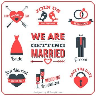Nous obtenons icônes mariés