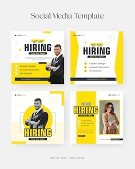 Nous recrutons un poste pour le modèle de publication instagram