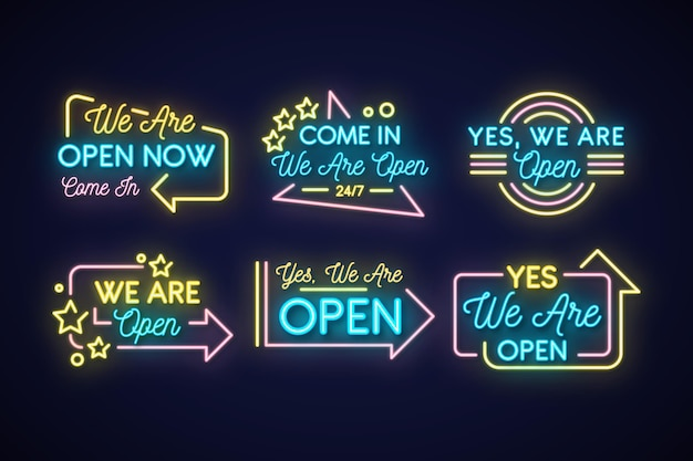 Nous sommes une collection ouverte d'enseigne au néon
