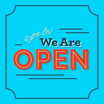 Nous sommes un concept de signe ouvert