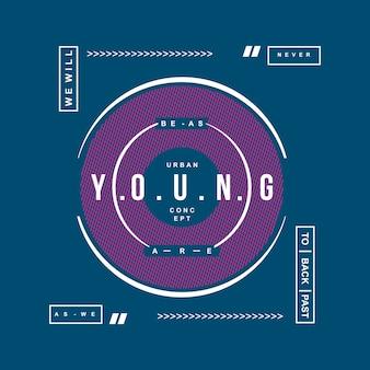 Nous sommes jeune conception de t-shirt typographie graphique