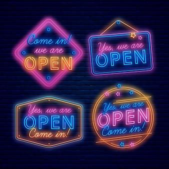 Nous sommes néon enseigne ouverte
