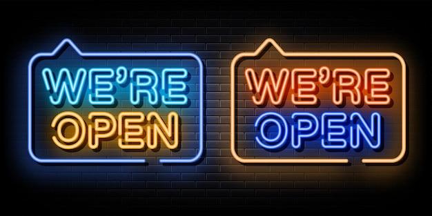 Nous sommes ouverts ensemble néon texte néon symbole