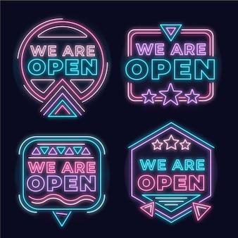Nous sommes pack d'enseigne au néon ouvert