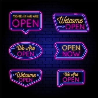 Nous sommes le thème des enseignes au néon ouvertes
