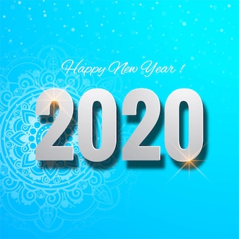 Nous vous souhaitons une bonne carte de bonne année 2020