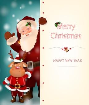 Nous vous souhaitons un joyeux noël. bonne année.
