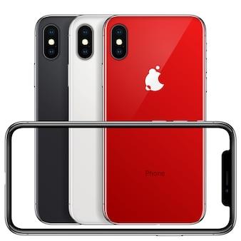 Nouveau cadre avant de téléphone et rouge