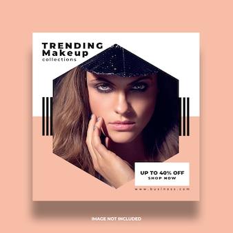Nouveau concept coloré minimal instagram accrocheur annonce modèle de publication de médias sociaux