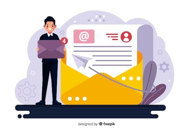 Nouveau concept de message pour le modèle de page de destination