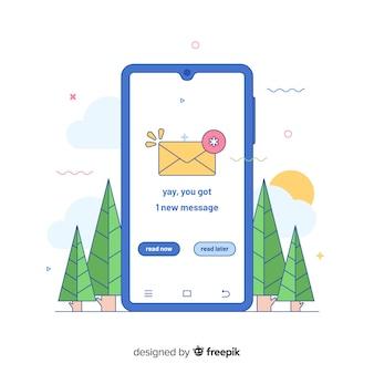 Nouveau concept de message pour la page de destination
