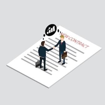 Nouveau contrat dans le travail commercial