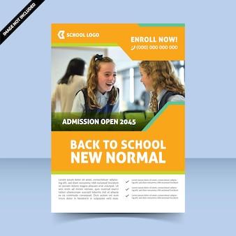 Nouveau design de modèle de flyer normal coloré moderne de retour à l'école