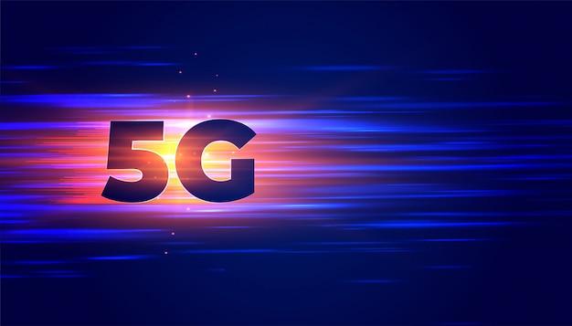 Nouveau fond de connexion sans fil avec la technologie 5g