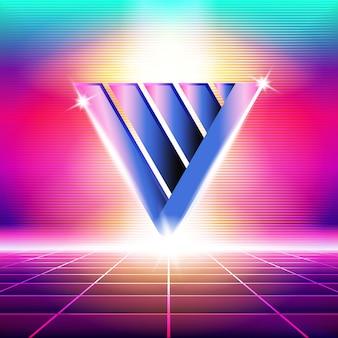 Nouveau fond d'onde rétro. synthwave retro design et éléments